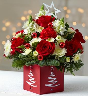 Розы в зимних букетах